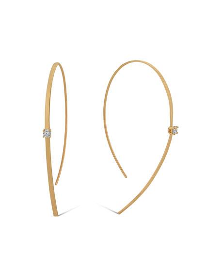 14k Solo Hooked On Hoop Diamond Earrings