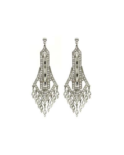 Deco Chandelier Crystal Drop Earrings