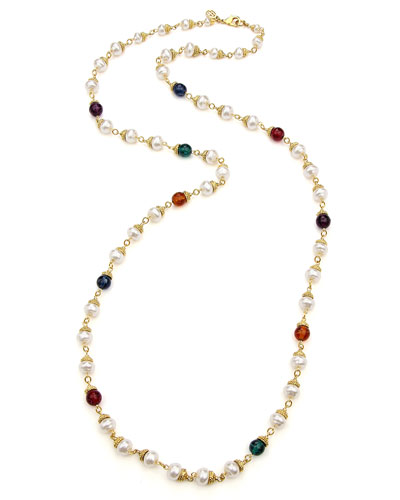 Multicolor Long Beaded Necklace