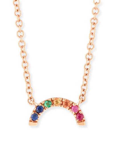 14k Rainbow Pendant Necklace