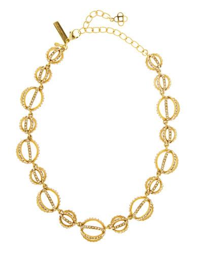 Crystal Pavé Globe Necklace