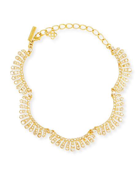 Image 1 of 1: Curved Crystal Choker Necklace