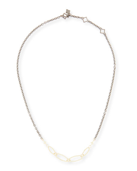 "Old World Short Chain Necklace, 18""L"