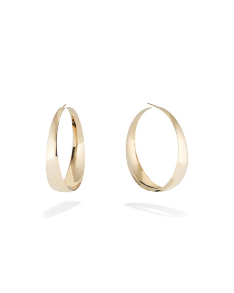Lana 14K GOLD GRADUATING CURVE HOOP EARRINGS