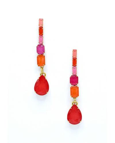 Constance Linear Glass Drop Earrings