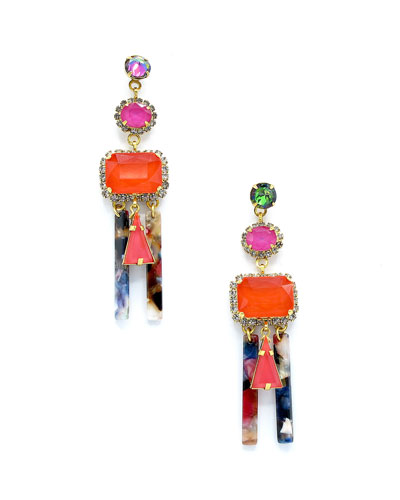 Cadee Mixed-Cut Dangle Earrings