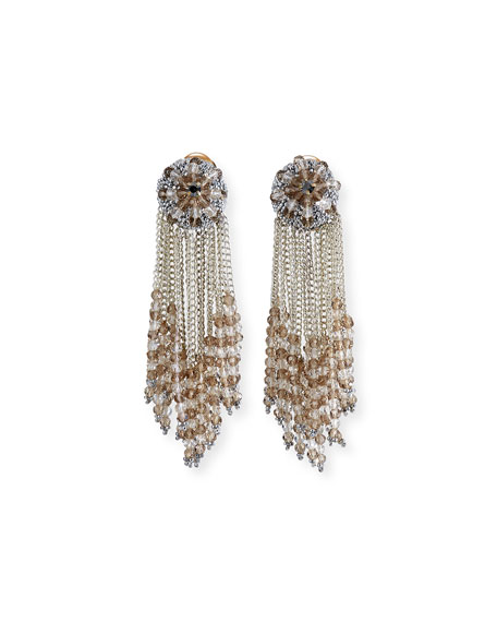 chain Cluster Beaded Earrings