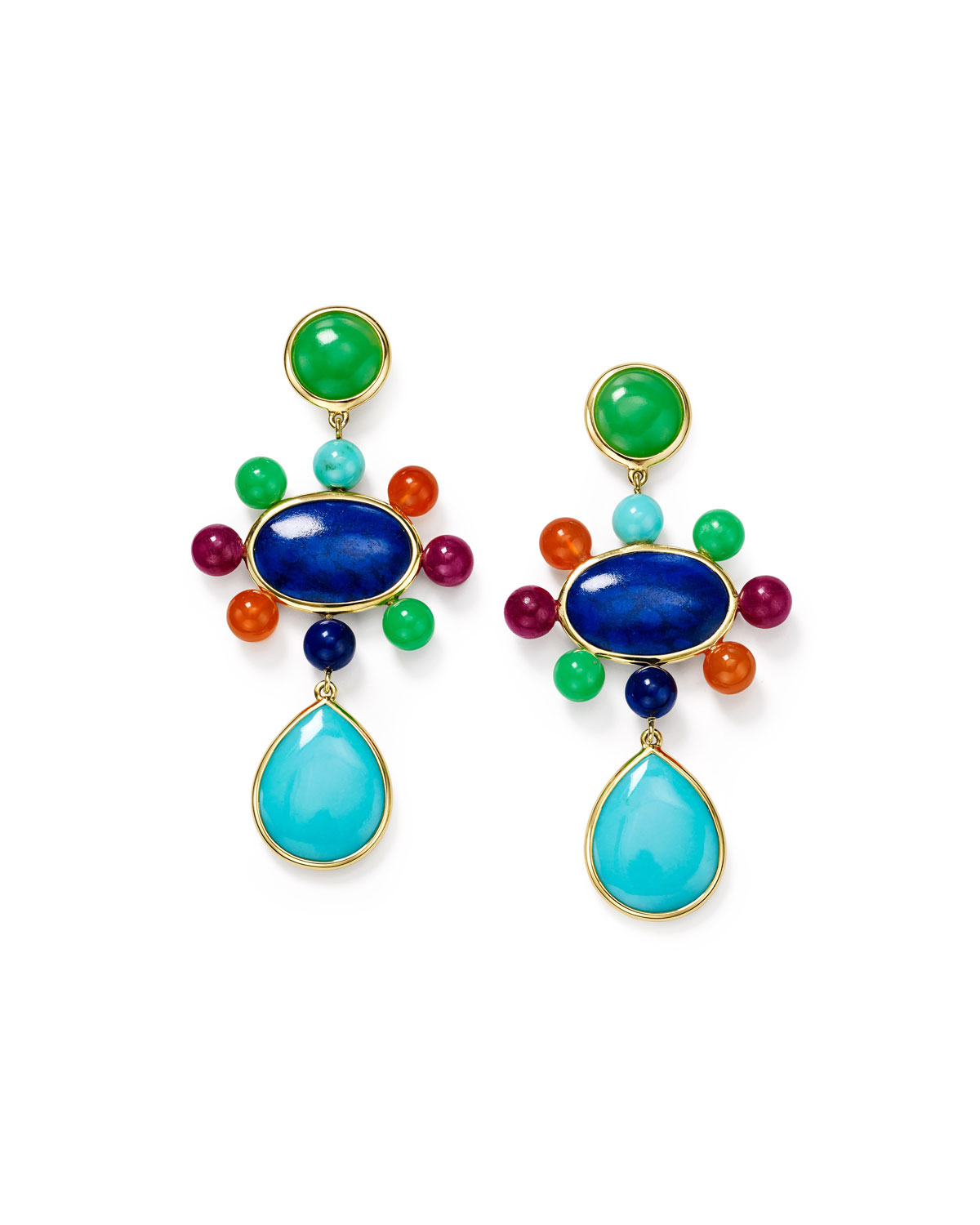 Ippolita NOVA 18K MIXED-STONE DROP EARRINGS