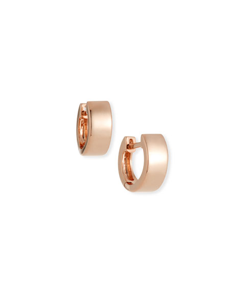 14k Rose Gold Jumbo Huggie Earrings