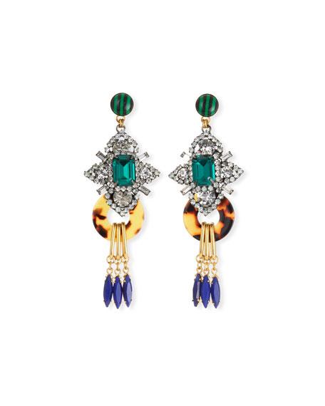 Edwina Geometric Drop Earrings