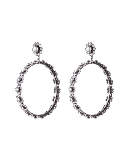 Alix Hoop Drop Earrings