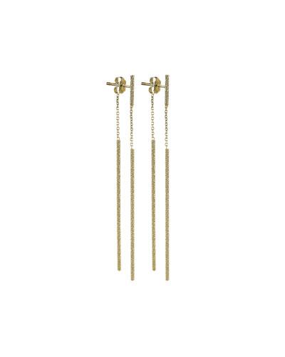 Florentine 18k Gold Magic Wand Earrings