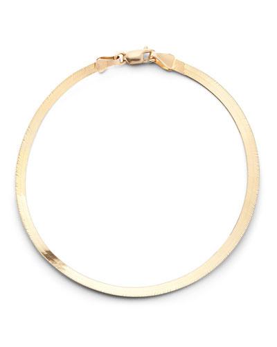 14k Gold Thin Herringbone Bracelet
