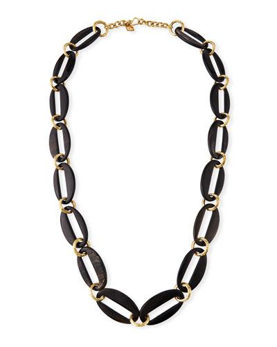Pepo Link Necklace  Dark Brown