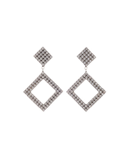 Beta Crystal Square-Drop Earrings