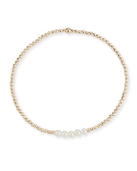 14k Gold Five-Pearl Bracelet