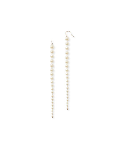 14k Gold Graduated Akoya Pearl Drop Earrings