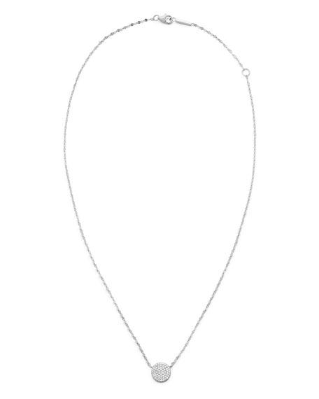 14k Diamond Pave Disc Pendant Necklace