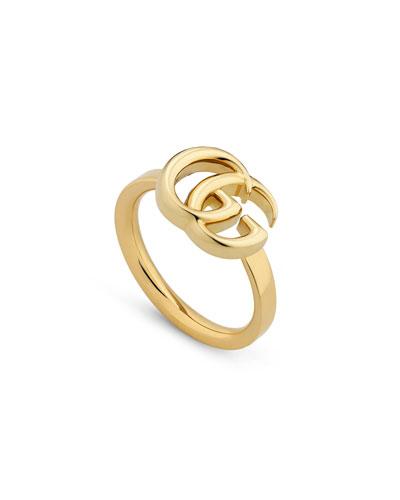 18k Yellow Gold 13mm GG Running Ring  Size 6.75
