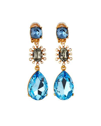 Bold Mixed Jewel Earrings