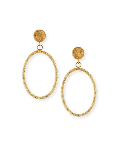 Florentine 18k Small Oval-Drop Earrings