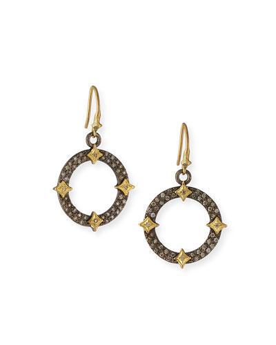 Old World Diamond Open Drop Earrings w/ Crivelli