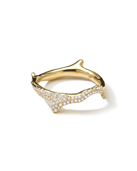 18k Diamond Stardust Branch Ring
