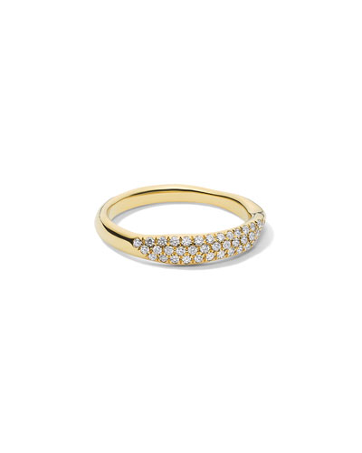 Stardust 18k Diamond Squiggle Ring  Size 7