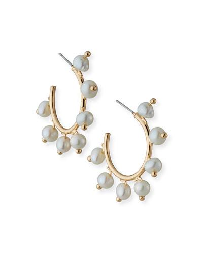Coleta Pearly Hoop Earrings