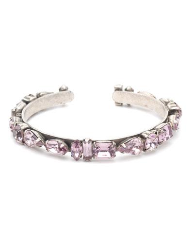 Cielo Crystal Cuff Bracelet  Lavender