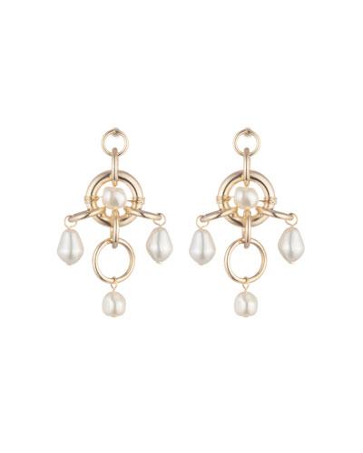 Luis Pearly Chandelier Earrings