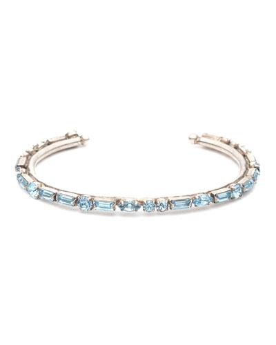 Cielo Crystal Cuff Bracelet  Blue