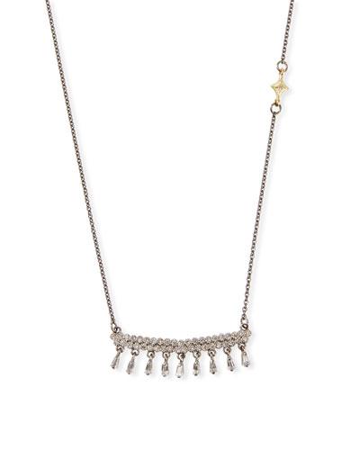 Old World Diamond-Bar Sapphire-Shaker Necklace