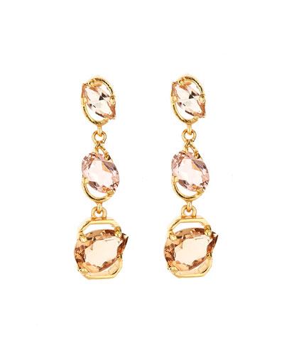 Crystal Offset Drop Earrings