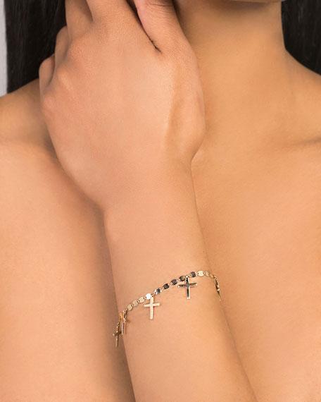 14k Cross Charm Bracelet