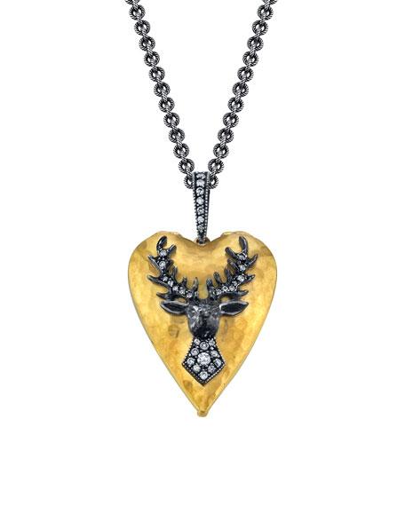 Love Locket Diamond Deer Necklace