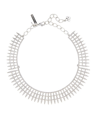 Crystal Pave Point Necklace