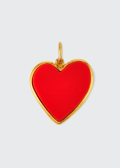 Small Enamel Heart Pendant