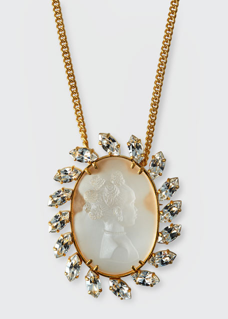 Crystal Cameo Pendant Necklace