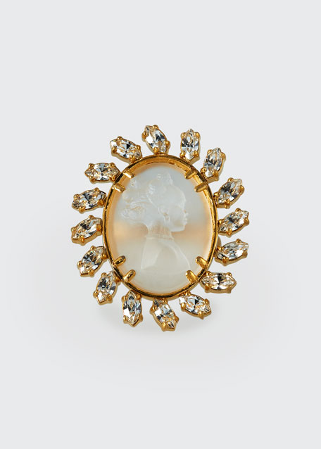 Crystal Cameo Ring, Size 5.5, 7 and 9