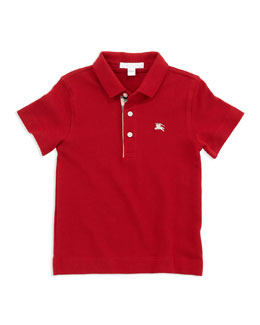 Check-Trim Polo, Red, 4Y-10Y