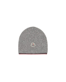 Merino Wool Knit Hat, Gray