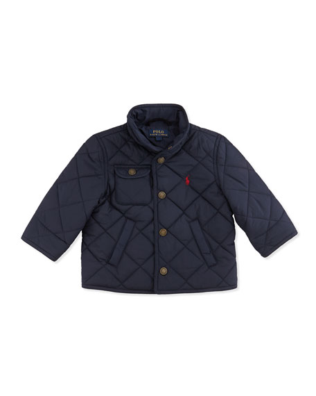 Richmond Quilted Jacket, Aviator Navy, 9-24 Months
