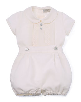 Three-Piece Special Occasion Set, Ivory, Size 3-6 Months