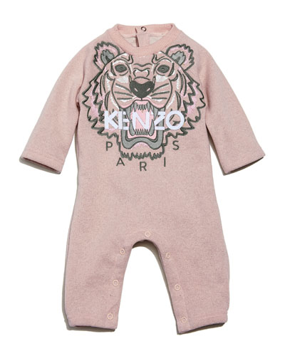 Knit Cotton-Blend Coverall, Light Pink, Size 6-12 Months
