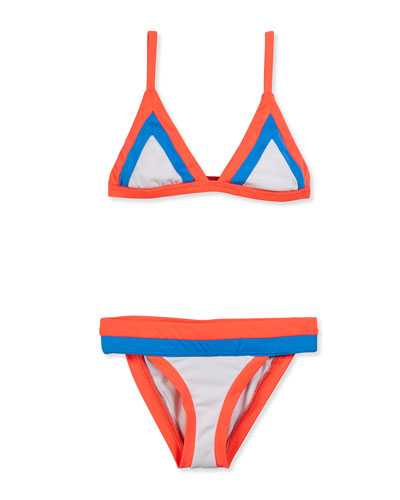 Amalfi Colorblock Two-Piece Swimsuit, Multicolor, Size 8-14
