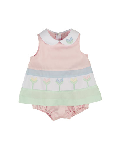 Finewale Pique Tulip Play Dress, Multicolor, Size 3-18 Months