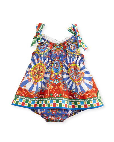 Sleeveless Sicily Play Dress, Multicolor, Size 3-12 Months