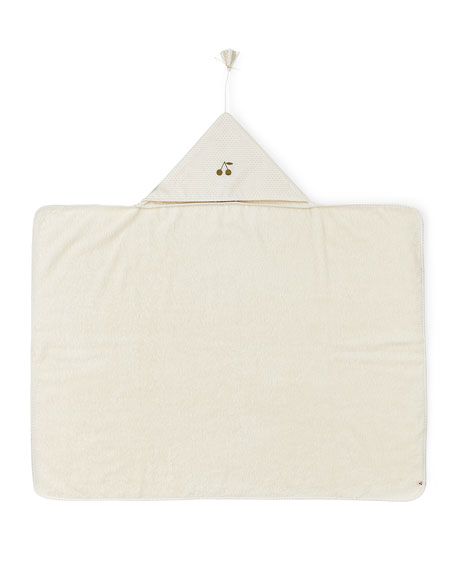 Hooded Baby Towel, White