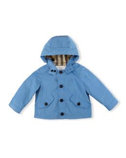 Arlie Hooded Packaway Parka, Lupin Blue, Size 12M-3